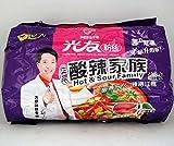 四川光友粉絲 正宗酸辣家族 5食セット袋麺 中国産方便粉絲 (酸辣3種、麻辣、酸菜)