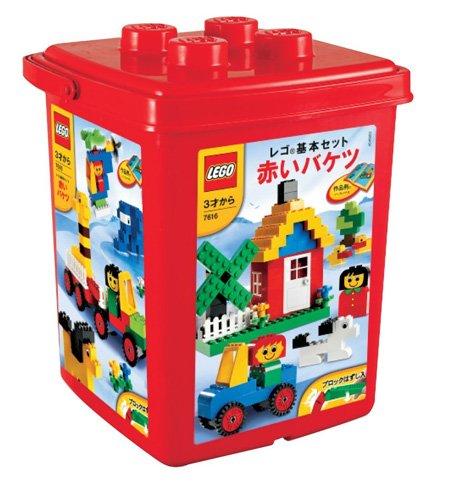 レゴ 基本セット 赤いバケツ(ブロックはずし付き) 7616/プレイマット付き◎新品Ss