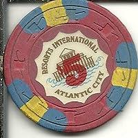 $ 5リゾートInternationalカジノチップAtlantic City Obsolete 3ストライプ