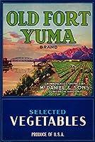 Old Fort Yuma Vegetableラベル 12 x 18 Art Print LANT-1613-12x18