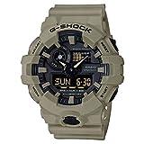 Best カシオダイビングの腕時計 - Casio メンズ G-SHOCK クォーツ レジン カジュアルウォッチ 色:ベージュ(モデル:Ga-700Uc-5Acr) Review