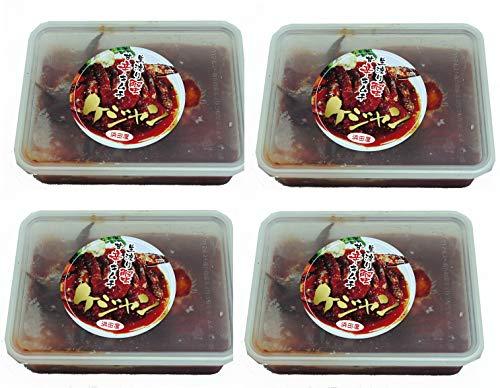 ケジャン4個セット HAMADAYAのヤンニョムケジャン甘辛口500g×4個 20肩入(説明書付)