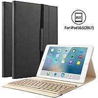 KVAGO iPad Pro 10.5 キーボードカバー ワイヤレスBluetooth キーボード 7色バックライト 手帳型 キーボード着脱可能 高級PUレザー iPad Pro 10.5 ケース