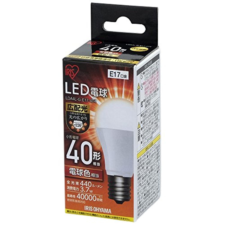 アイリスオーヤマ LED電球 口金直径17mm 40W形相当 電球色 広配光タイプ 密閉器具対応 LDA4L-G-E17-4T4