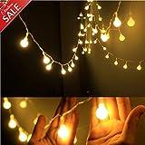 TECKEPIC イルミネーションライト 電池式ストリングライト 4.3m40個LEDボールライト ロマンチック雰囲気 防水 クリスマス ハロウィン パーティー 誕生日 結婚式 庭 広場 街路樹 ADC001WWJP