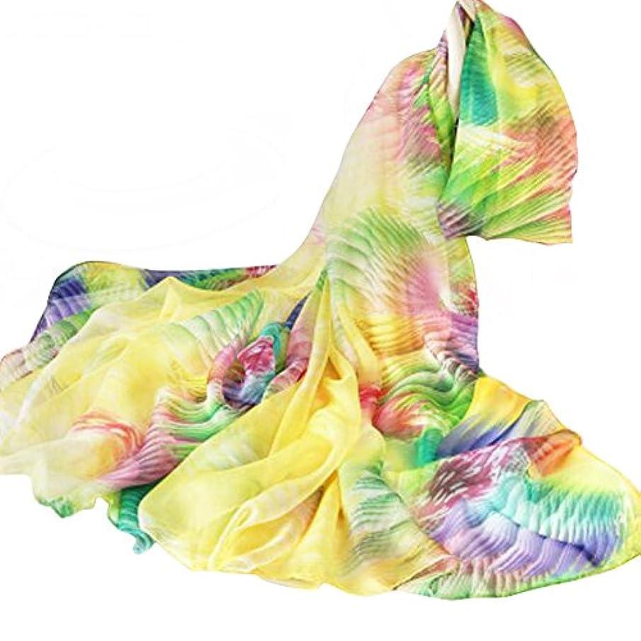 キュービック音呼吸[H]カラフルな夏のスカーフのビーチサンスクリーンのショール薄いビーチのスカーフ