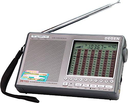 DEGEN DE1103 DSP FM76?108MHz 短波 BCLラジオ 100VACアダプター/日本語版説明書付属