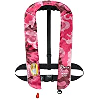 EYSON ライフジャケット ベストタイプ 首かけ 釣り 手動膨張 救命胴衣 男女兼用 CE認定済