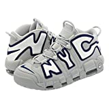 [ナイキ] NIKE AIR MORE UPTEMPO NYC QS WOLF GREY/MIDNIGHT NAVY/WHITE 【NEW YORK CITY】【国内未発売モデル】 [並行輸入品]