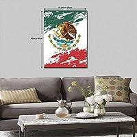 アートパネル アートフレーム 壁アート 壁飾り ウッドフレーム インテリアアート キャンバス絵画 メキシコの旗 壁画 壁掛け インナーフレーム 装飾画 寝室の装飾 軽くて取り付けやすい おしゃれ ポスター プレゼント