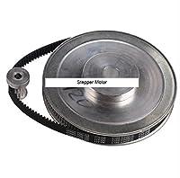 3Mピッチnema23ステッパーモータータイミングプーリホイール、軸ボア&ベルトセット、比6: 1レジューサfor DIY CNCマシン