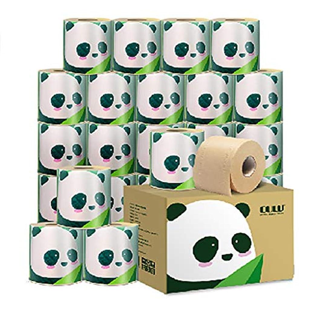 ミリメートルによると遡る100%天然竹パルプ - インスタントロール紙、3層、24ロール