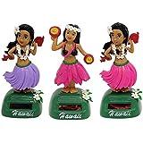 Baosity Swing Hawaiian Hula Girl Model Dancing Figure Science Educational Toy Car Dashboard Decor Ornament 3PCS