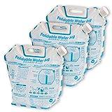 エピオス(Epios) 防災 携帯 折りたたみ ウォーターバッグ 給水袋 6.5リットル 3pセット (イベント アウトドア にも) 7015*3