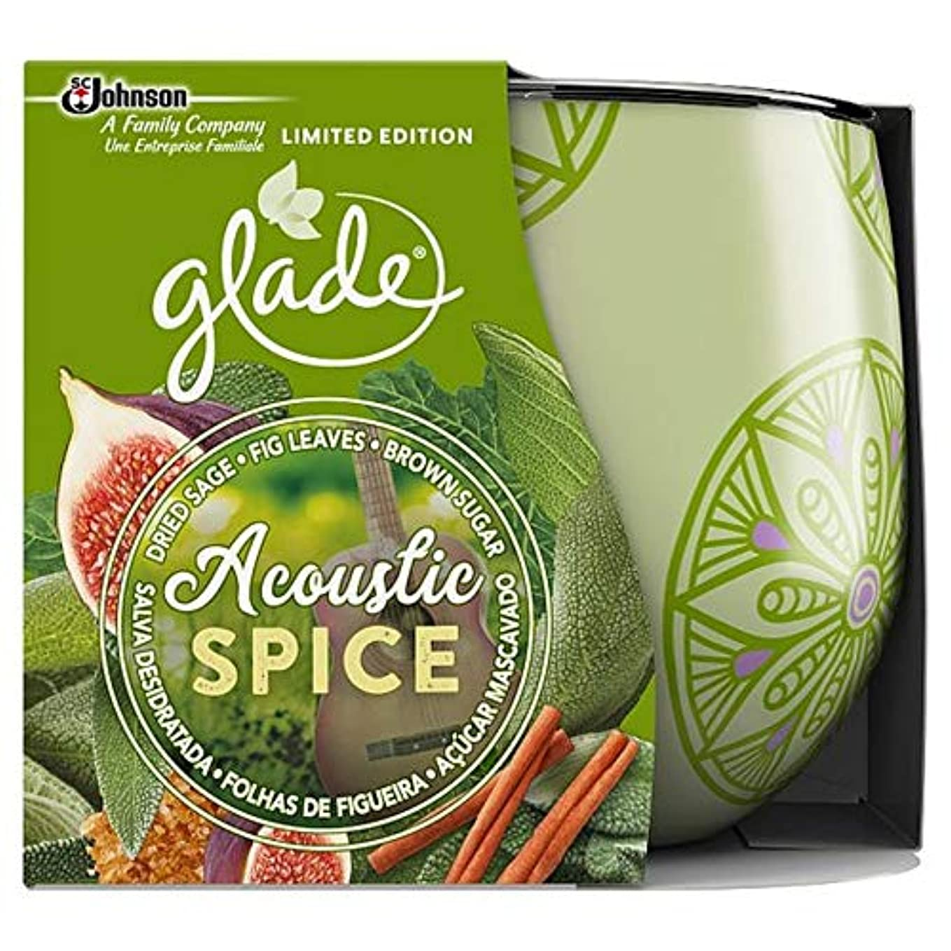 [Glade ] 音響スパイスキャンドル120グラムを空き地 - Glade Acoustic Spice Candle 120G [並行輸入品]