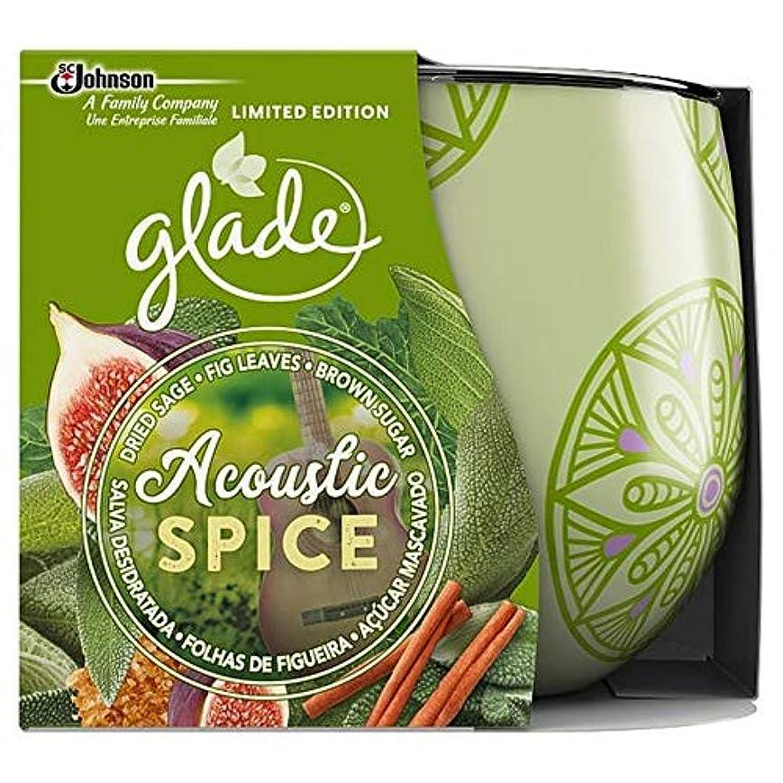 湿地期待する開発する[Glade ] 音響スパイスキャンドル120グラムを空き地 - Glade Acoustic Spice Candle 120G [並行輸入品]
