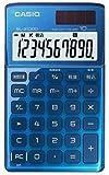 カシオ デザイン電卓 手帳タイプ 10桁 SL-Z1000BU-N ブルー