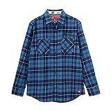 Dickies(ディッキーズ) チェックワークシャツ ネルシャツ 長袖 8470-8401D メンズ ブルー:XXL
