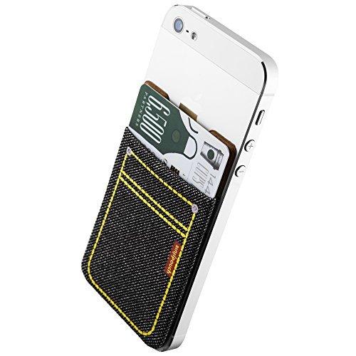 ススマホ手帳型ケース iphoneケース手帳型 定期入れ カード入れができるsinji スマートポケット 全ての機種対応 Suica PASMOを入れて おサイフケータイに使える、Sinjiポーチデニム。 (ブラック)