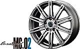 ユーロスピード MC×02 ダンロップ WINTER MAXX 01 205/60R16 16インチ 国産 スタッドレス & ホイール 4本SET プリウスα etc