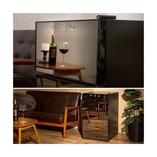 ワインセラー 24本 2ドア タッチパネル 上...の紹介画像2