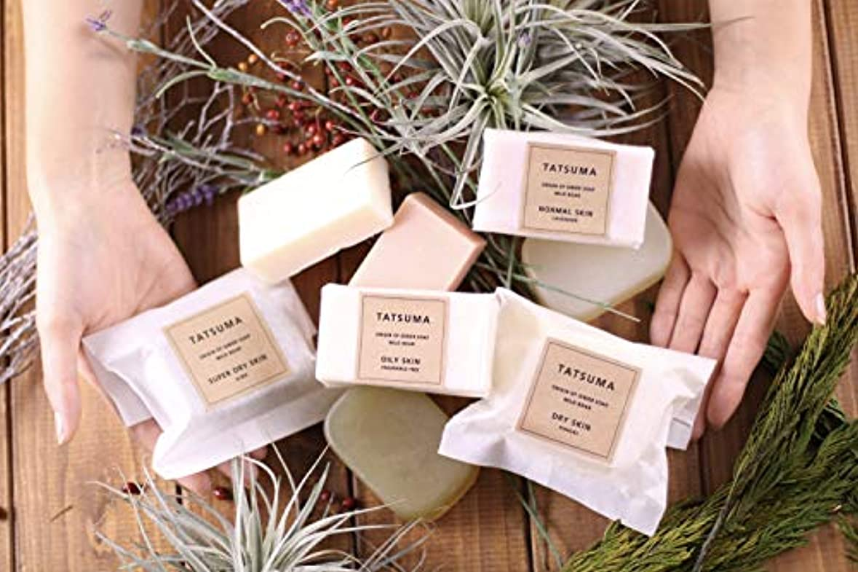 砂利反響する乱用TATSUMA SOAP 動物性オイルの無添加石鹸 SUPER DRY SKIN 超乾燥肌さん ヒバの香(100g)