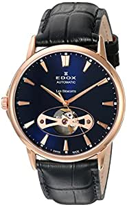 Edoxメンズ8502137r Buir Les Bemonts Analog Display Swiss Automatic Black Watch