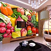 Xueshao 3D写真の壁紙果物野菜の装飾絵画キッチンリビングルームの寝室の壁壁画の壁紙E 3D-400X280Cm