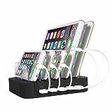 OthoKing USB 充電ステーション 充電器 5つの充電USBポート iPhone/iPad/Android各種スマートフォンとタブレット対応