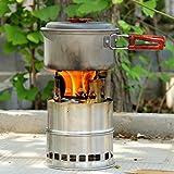 アウトドア用品 signstek バーベキューコンロ・焚火台 野外に持ちいける軽量ストーブ 燃料不要