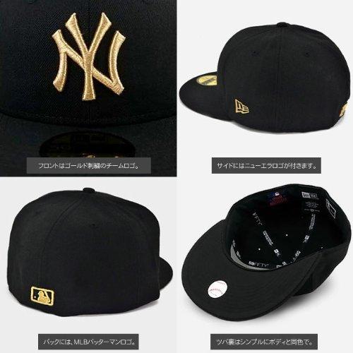 NEW ERA ニューエラ NEWERA CAP YANKEES(MLB)BLACK/GOLD N0001622 ニューエラ キャップ ヤンキース ブラック/ゴールド (7 1/8 (56.8cm))