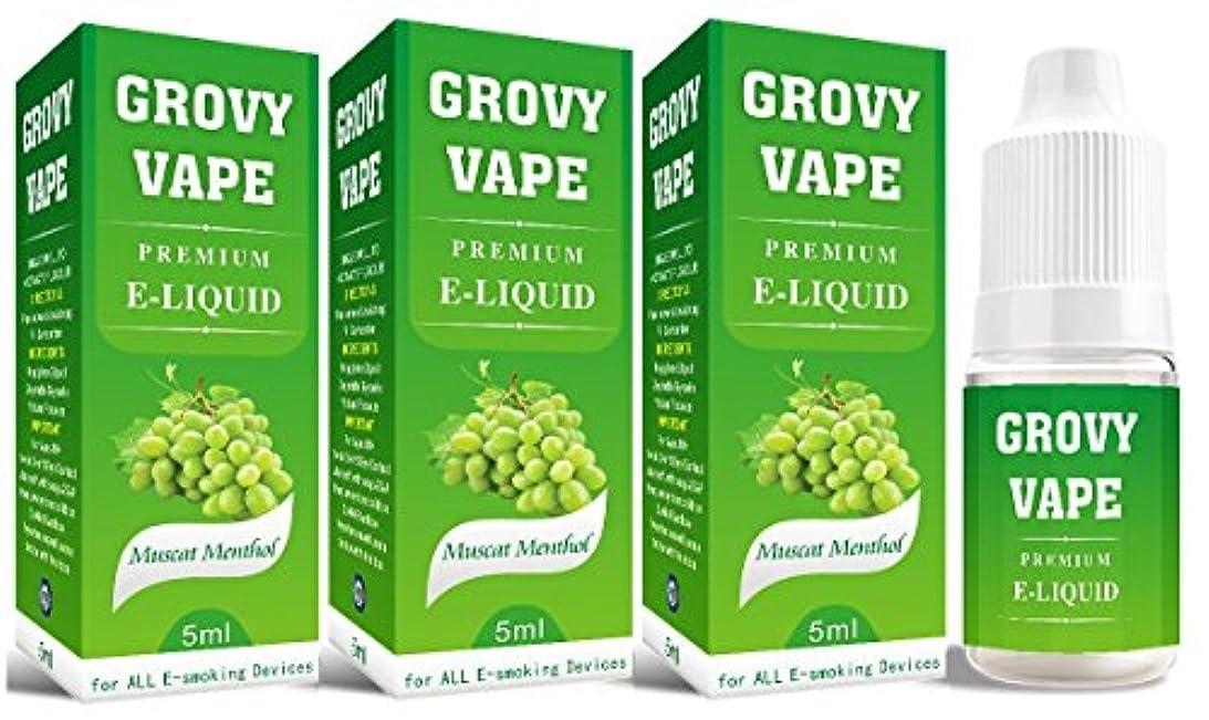 薄汚い無し恐れる電子タバコ リキッド 5ml 3本セット / マスカットメンソール【GROVY VAPE】Muscat Menthol /5ml ×3本