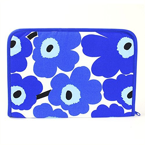 【鶴三工房】 ギフトBOX付 母子手帳ケース marimekkoの生地使用 ブルー