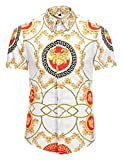 Rui Xie オープンカラー 半袖シャツ レーヨンシャツ メンズ 春夏 カジュアル 綿 トップスAL003-24-M