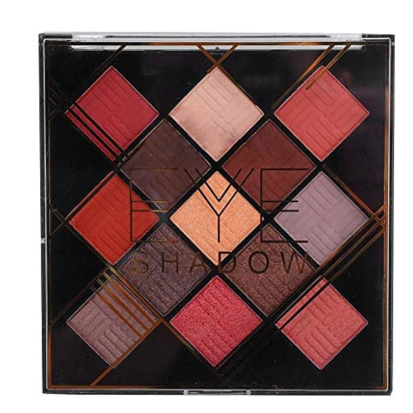 オーガニック接続されたインレイ13色アイシャドウパレット アイシャドウパレット 化粧マット グロス アイシャドウパウダー 化粧品ツール (1020-2-02#)
