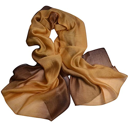 c23efab5f85c8 上質 シルク 大判 ストール ショール スカーフ マフラー 絹のスカーフ 黄