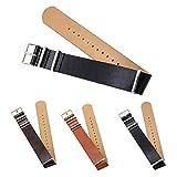 CIVO 高級合成レザー時計バンド NATOストラップ 18mm 20mm 22mm ZULUミリタリー Leather Watch Band G10腕時計ベルト 標準&超..