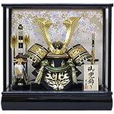 【即日発送可能】京寿 五月人形 兜飾り ケース入り 木製弓太刀付 間口43×奥行30×高さ41cm 10号中鍬角兜ケース飾り YN50320GKC