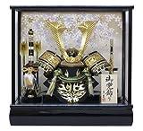 京寿 五月人形 兜飾り ケース入り 木製弓太刀付 間口43×奥行30×高さ41cm 10号中鍬角兜ケース飾り YN50320GKC