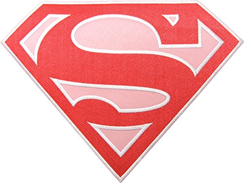 Large Pink Supergirl Logo Patch / Applique by Square Deal Recordings & Supplies