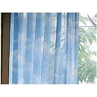 雲柄ミラーレースカーテン 幅100cm×丈176cmの2枚組