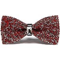 Men Luxury Sparkling Diamante Bowties Noble Shiny Crystal Rhinestone Bow Ties