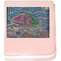 CafePress – Seans Ocean – スーパーソフトベビー毛布、新生児おくるみ ピンク 06481496696832E