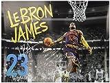 レブロン・ジェームズポスターCleveland Cavaliers 23フォトアートプリント( 24x 18)