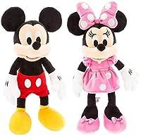 Dis ミッキーマウス ぬいぐるみ Mサイズ 17インチ ミニーマウス フラシ天 ピンク Mサイズ 18インチ セット