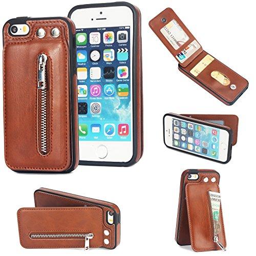 iPhone 5S ケース Alfort 高級の本革 PUレ...