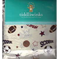 Tiddliwinks Future All Star Fitted Sheet - Ecru by Tiddliwinks