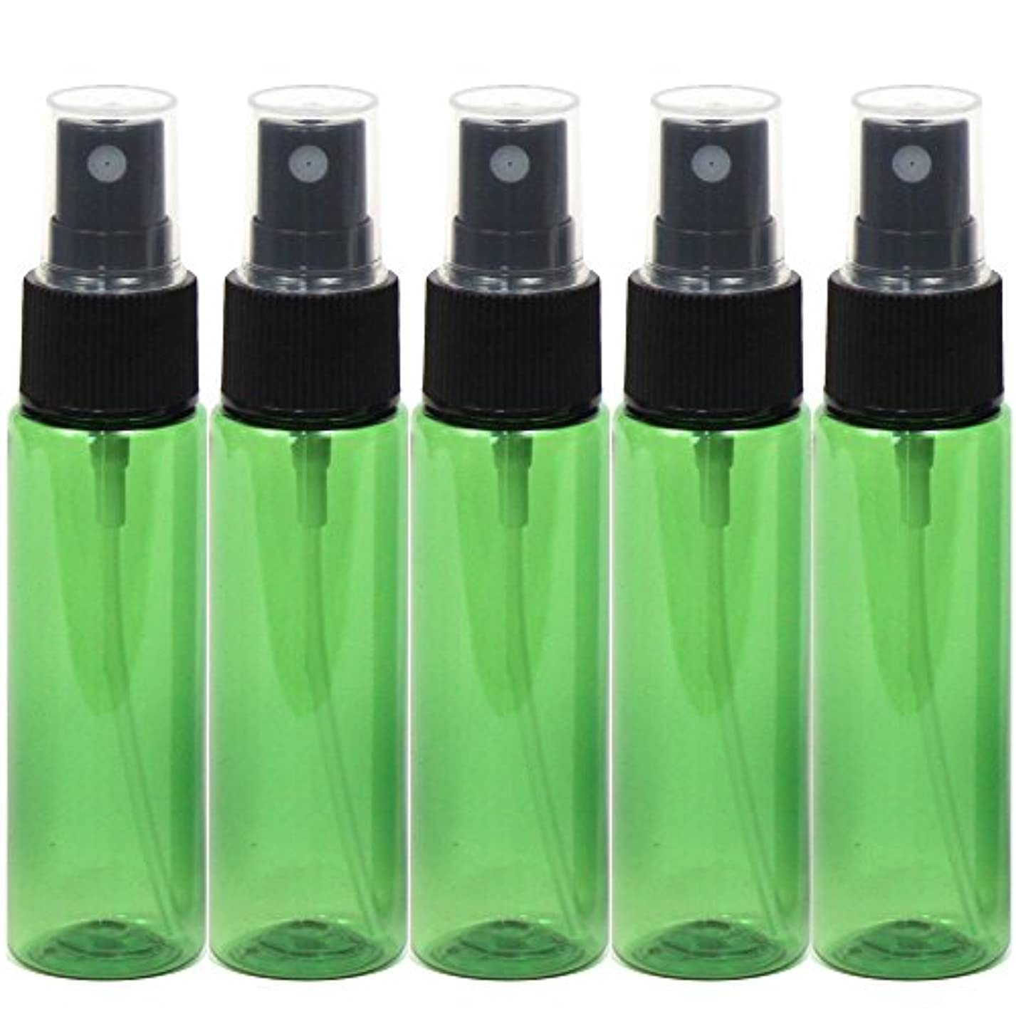 罪悪感領事館正午スプレーボトル 30mL グリーン 5本セット 遮光性 おしゃれ空容器gr30-5