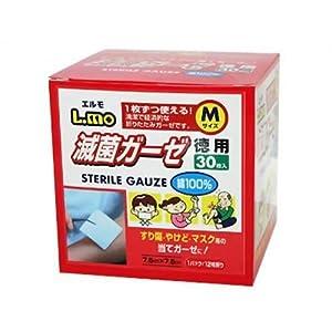 エルモ滅菌ガーゼMサイズ お徳用30枚入 781489
