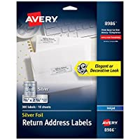 Foil Mailing Labels, 3/4 x 2-1/4, Silver, 300/Pack (並行輸入品)